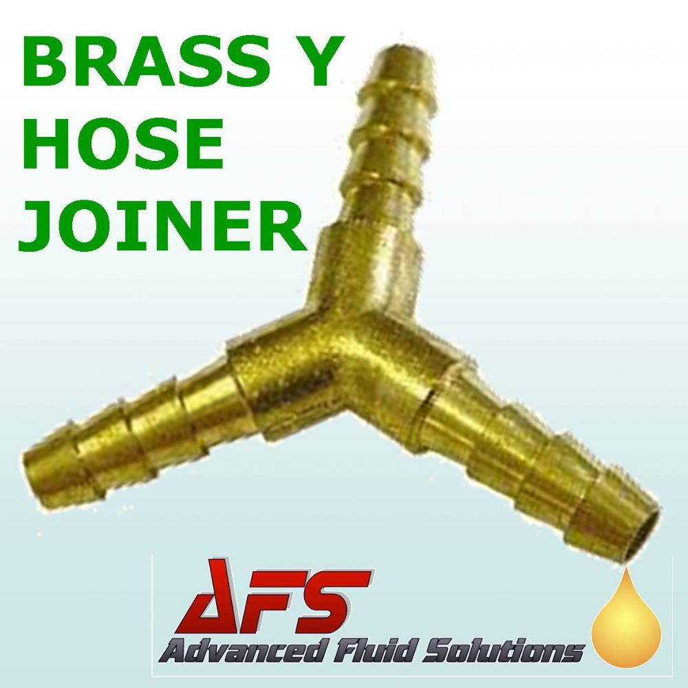 "5mm 3/16"" Brass Barbed Y Piece 3 Way Fuel Hose Joiner"